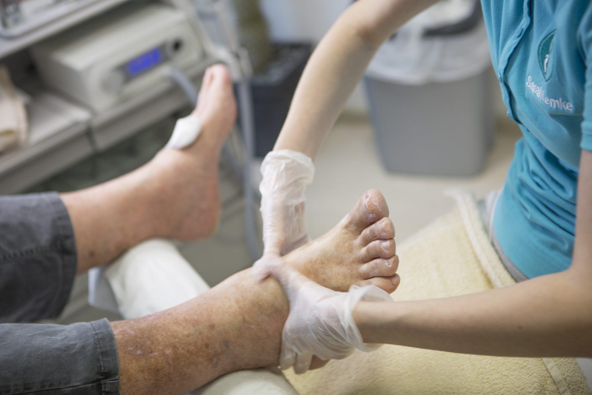 Diabetischer Fuß, Podologie Praxis Olga Karcher, Löhne